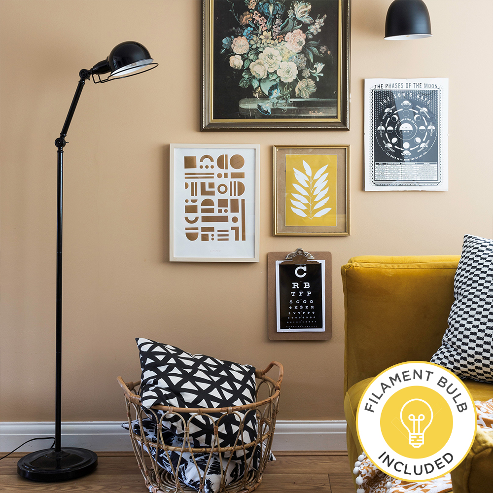 Iconic Forton Floor Lamp in Black by Grillo Designs Just £45