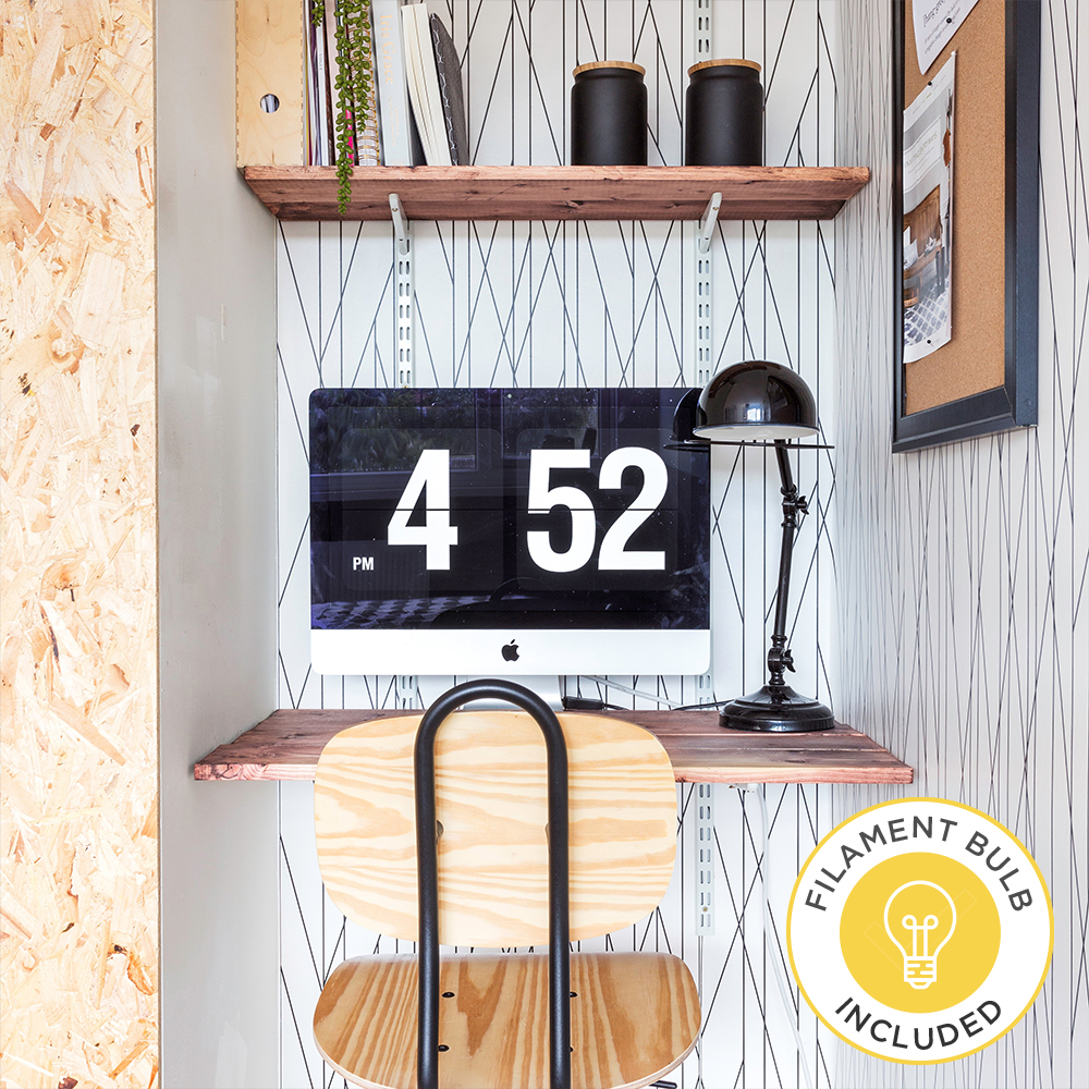 Iconic Forton Desk Lamp in Black by Grillo Designs Just £40