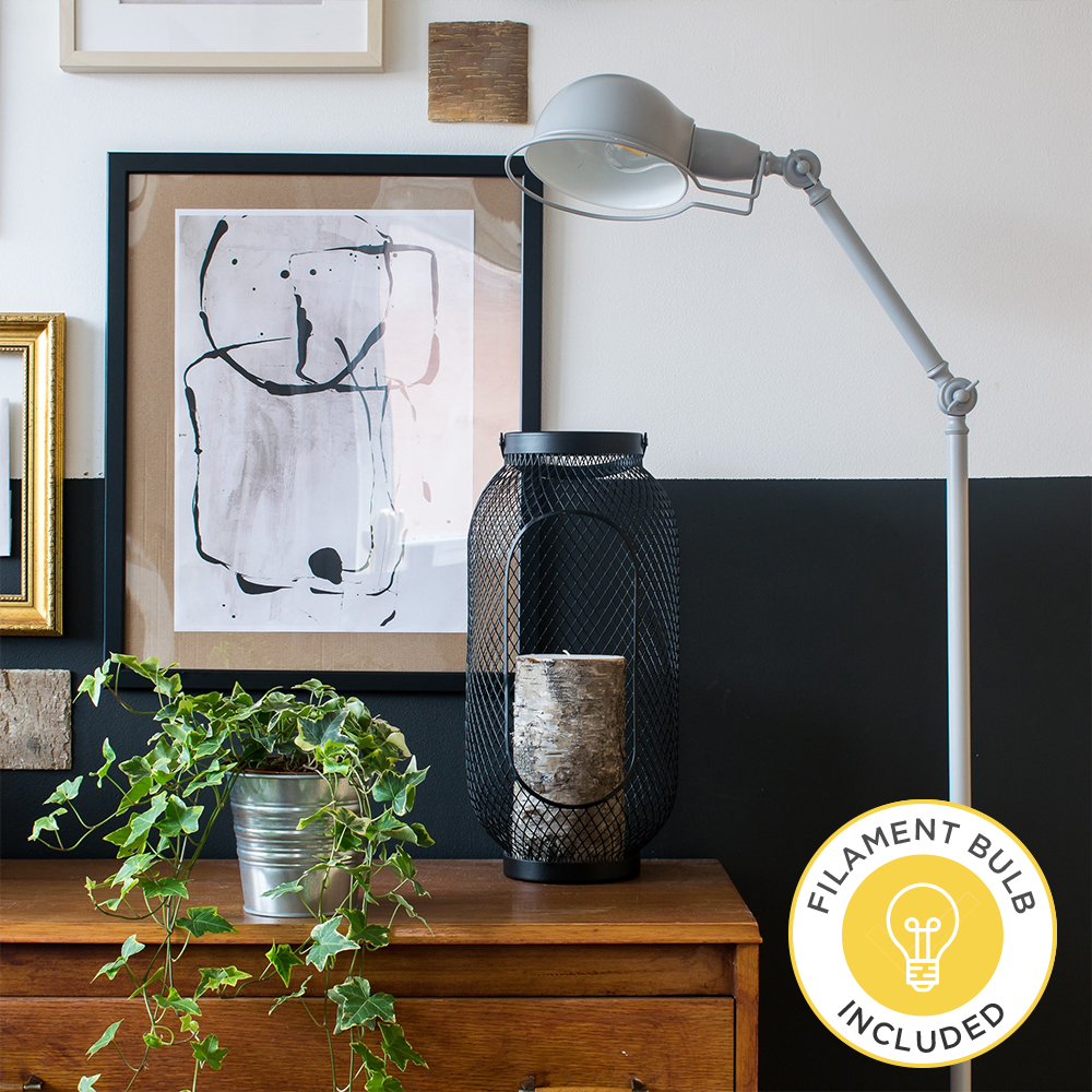 Iconic Forton Floor Lamp in Grey by Grillo Designs Just £45