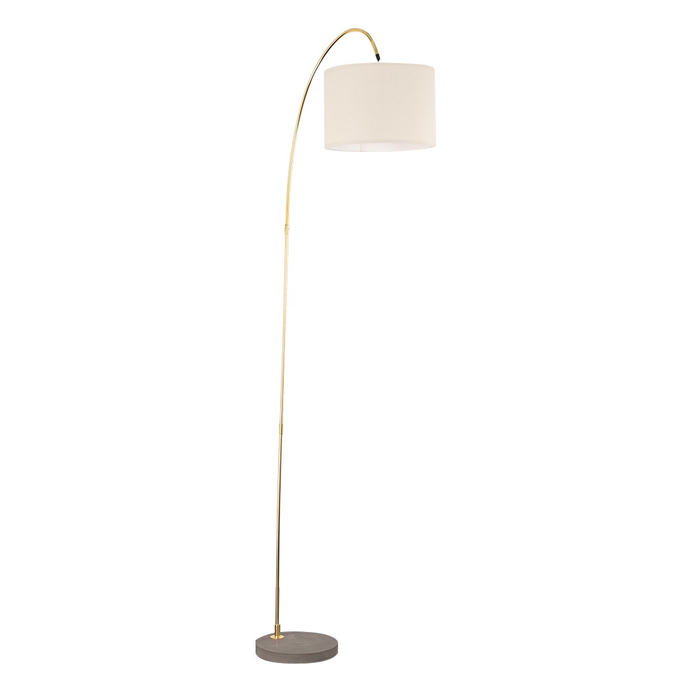 Du Bose Gold Floor Lamp With Large Mink Shade