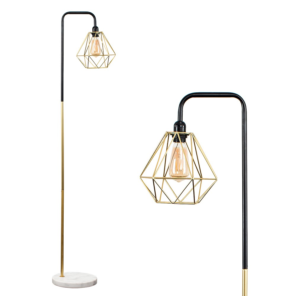 Talisman Black And Gold Lamp Diablo Shade Iconic Lights