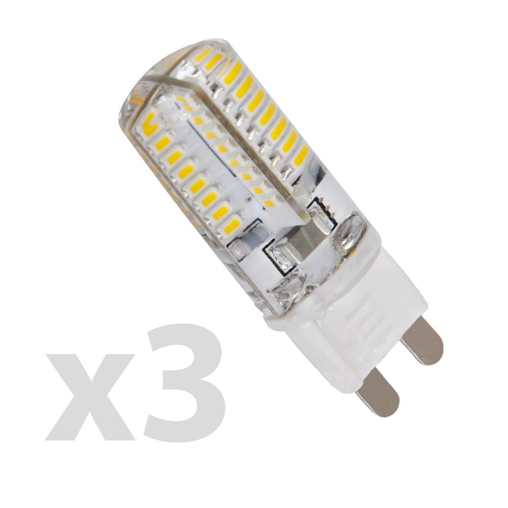 Pack of 3 - High Power LED MiniSun 3W Energy Saving G9 Pin Bulbs - War