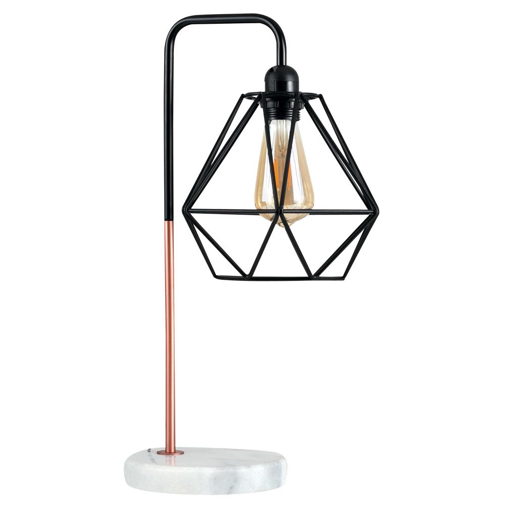 Talisman Copper Table Lamp With Black Diablo Shade