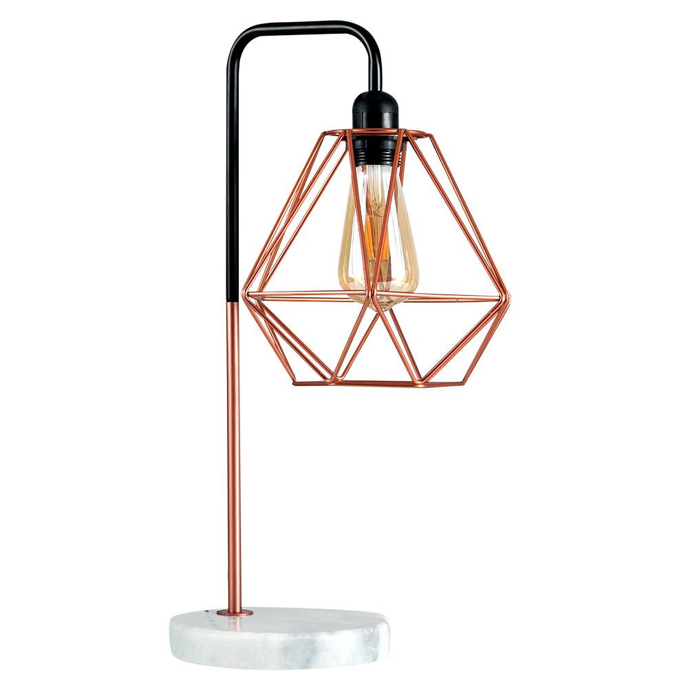 Talisman Copper Table Lamp With Copper Diablo Shade