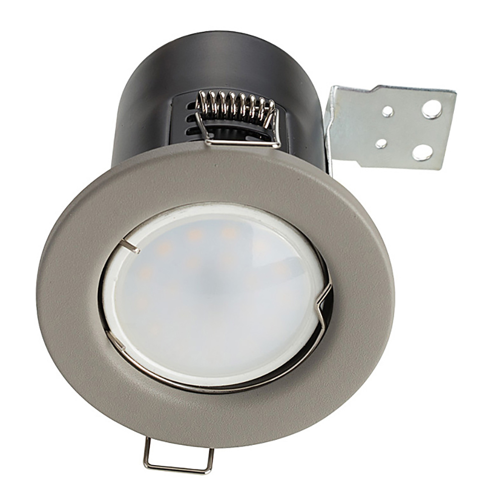 Pack of 4 Fire Rated GU10 Downlights Cement Effect