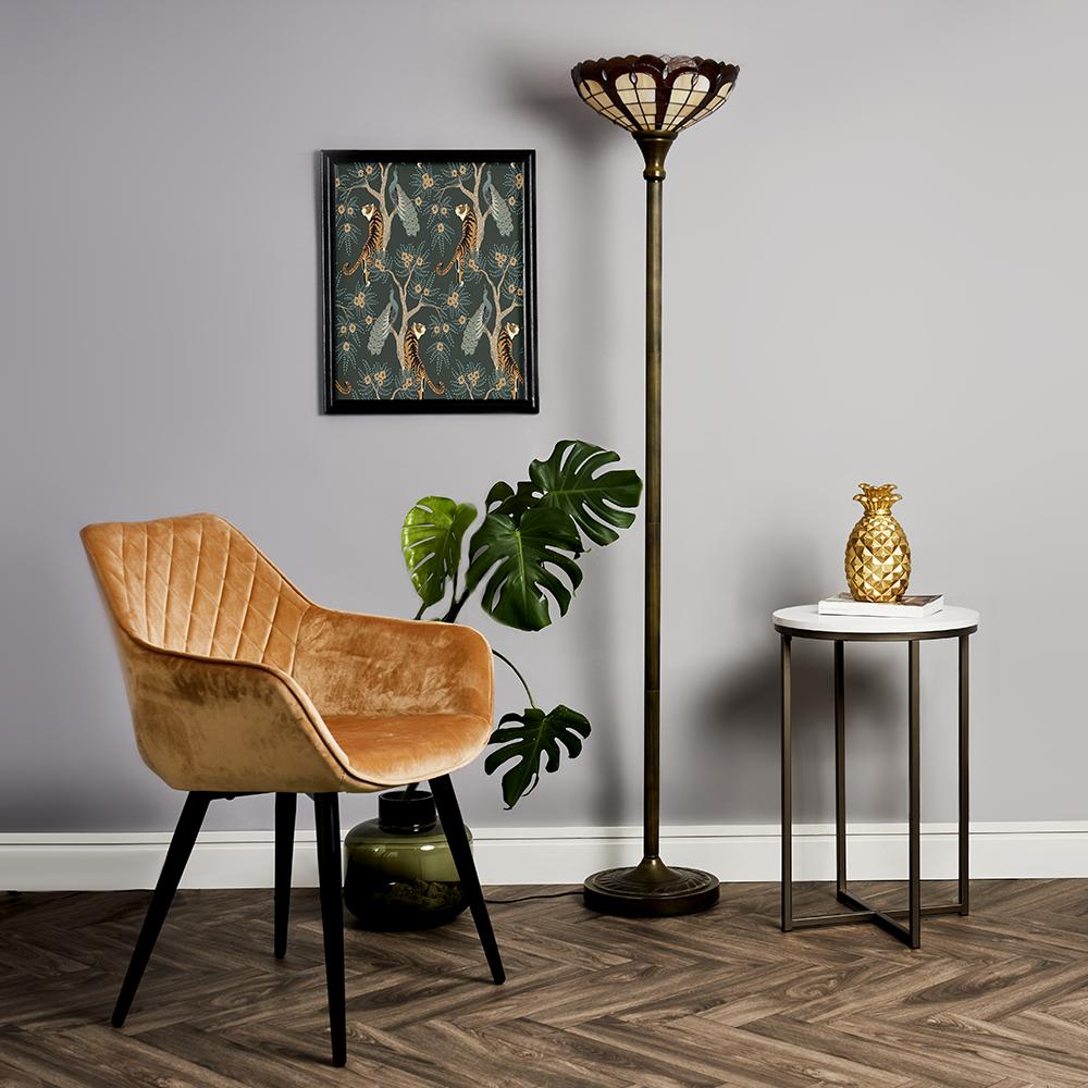 Art Deco Tiffany Uplighter Floor Lamp
