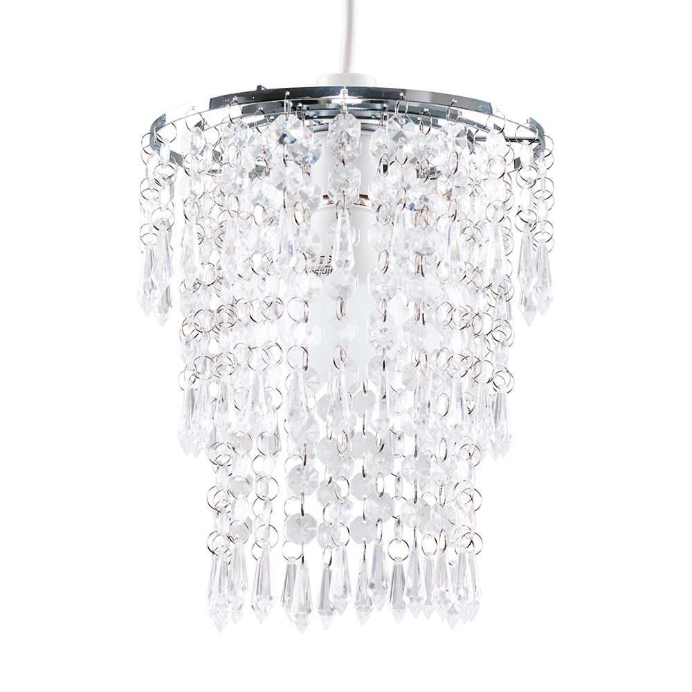3-Tier Acrylic Pendant Shade in Clear