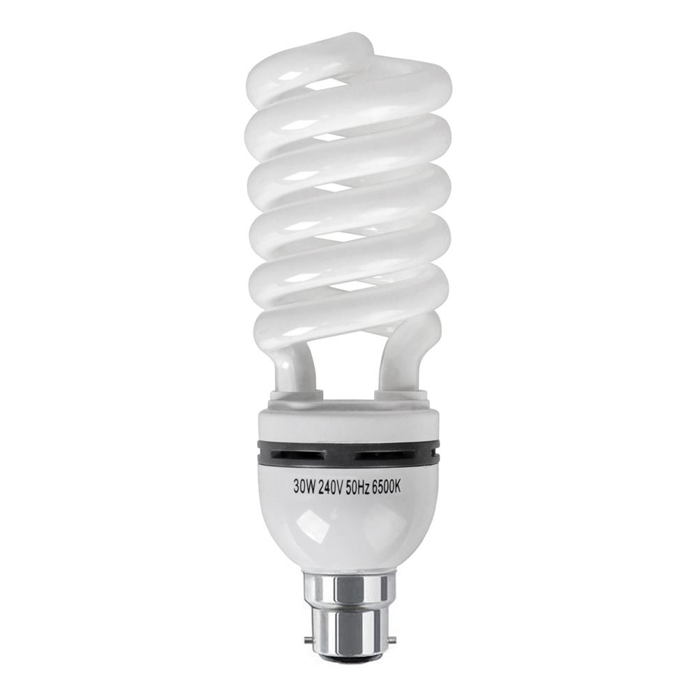 MiniSun 30W BC/B22 CFL Spiral Bulb In Cool White