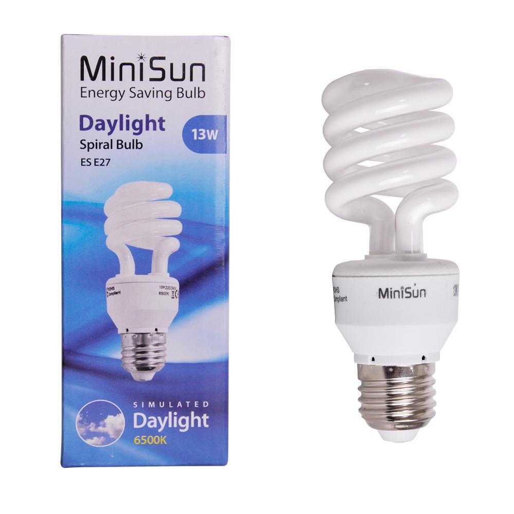 MiniSun 13W ES/E27 CFL Spiral Bulb In Cool White