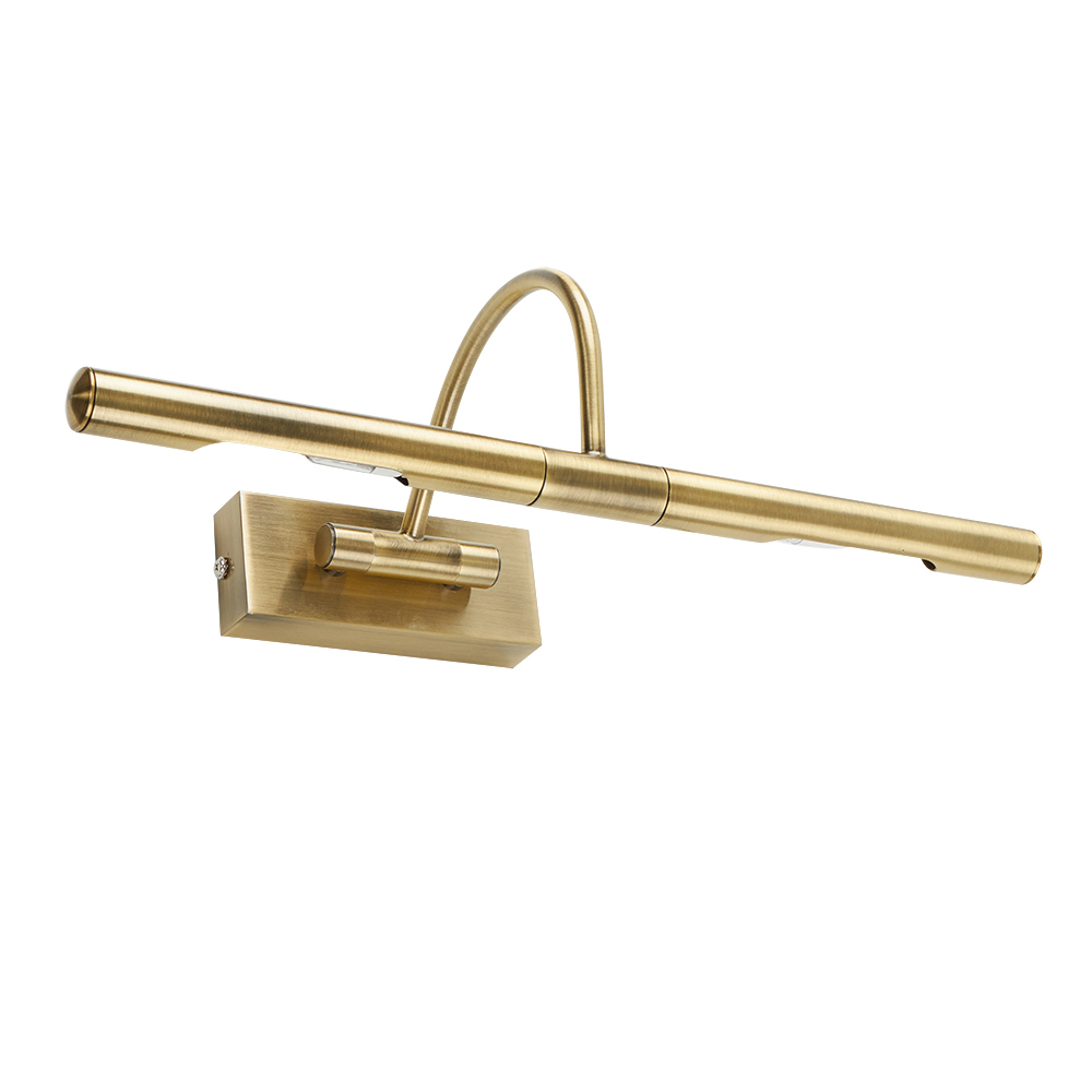 Capri Traditional Picture Wall Light in Antique Brass