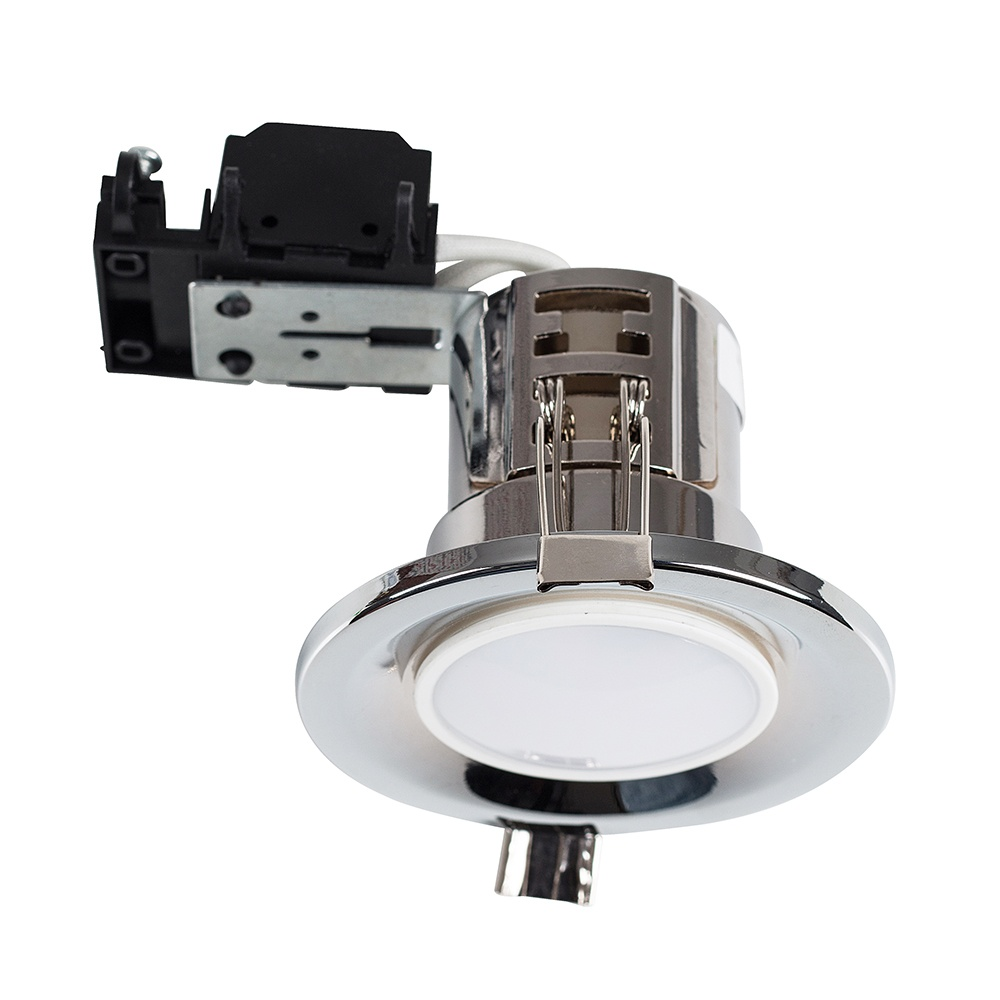 MiniSun Fire Rated Downlight in Polished Chrome