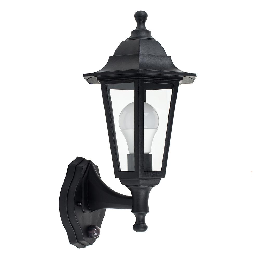 Mayfair IP44 Outdoor Lantern with PIR Sensor in Black