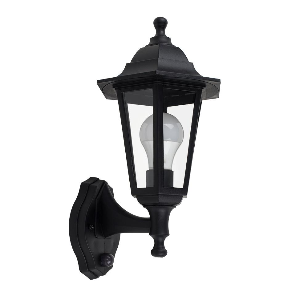 Mayfair IP44 Outdoor Lantern with Dusk 'til Dawn Sensor in Black