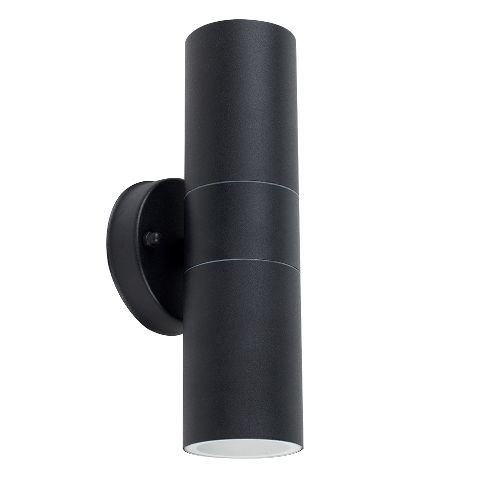 IP44 Outdoor Up/Down Wall Light in Black