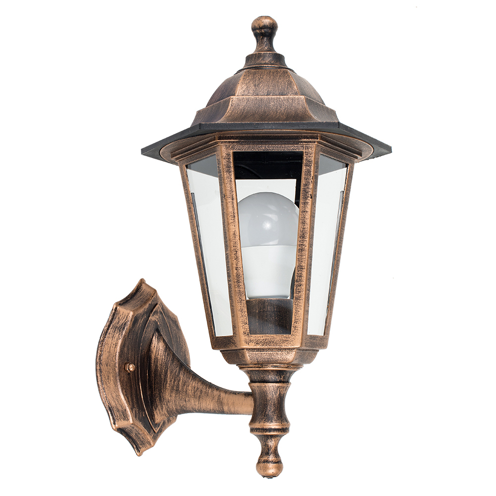 Mayfair IP44 Outdoor Up/Down Lantern in Brushed Gold