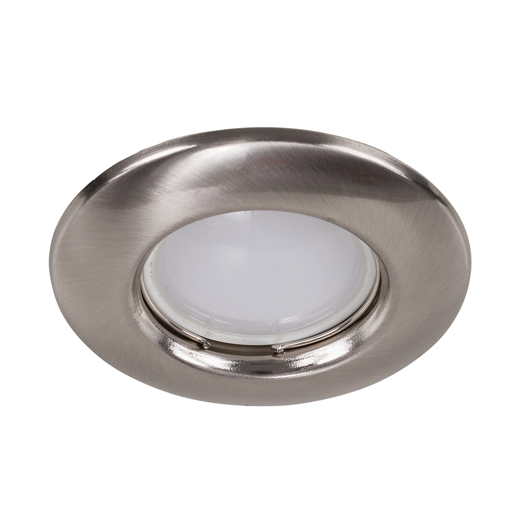 MiniSun Non-Fire Rated Steel Fixed Downlight In Satin Nickel