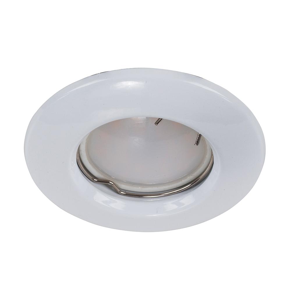 MiniSun Non-Fire Rated Steel Fixed Downlight in White