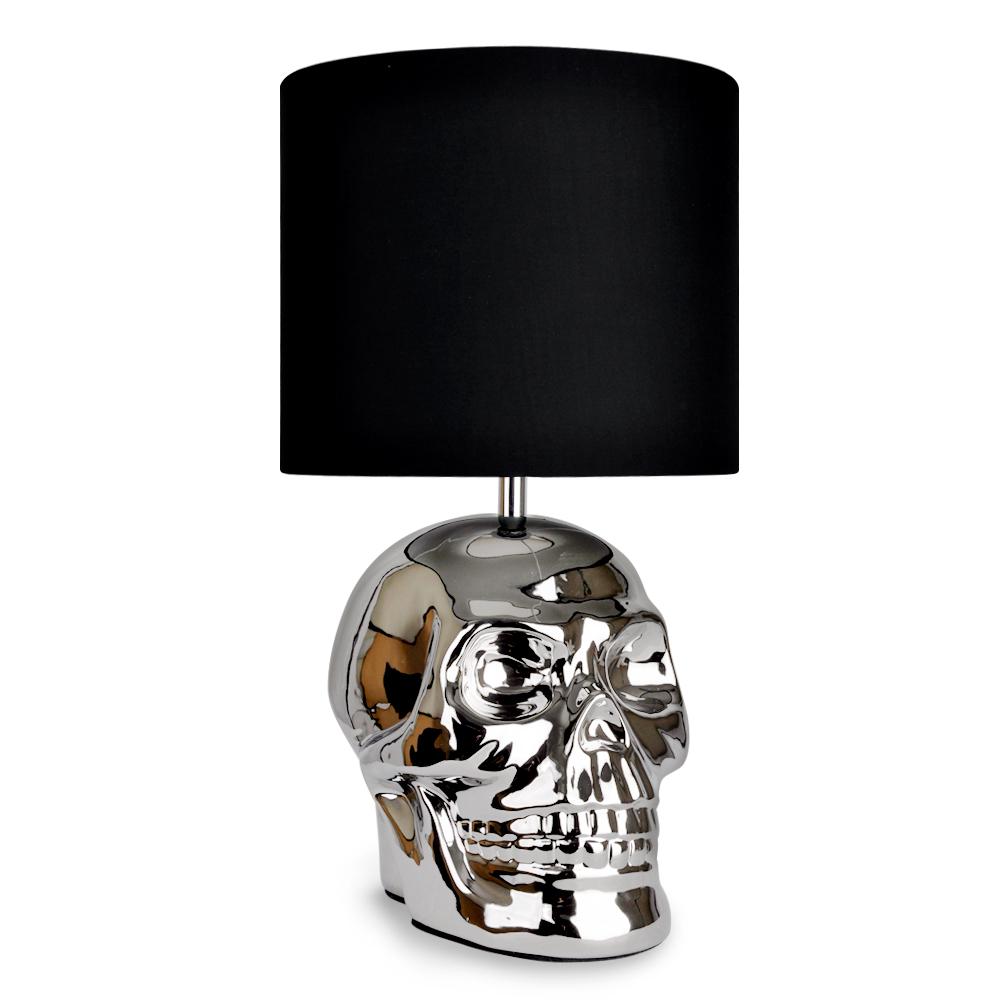 electric lantern table lamp uk. chrome plated large \u0027yorick\u0027 skull table lamp electric lantern uk
