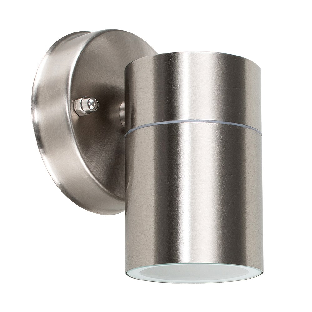 Barrow IP44 Outdoor Wall Light in Brushed Chrome