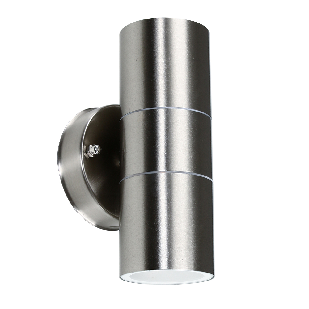 Trenley IP44 Up/Down Wall Light in Brushed Chrome