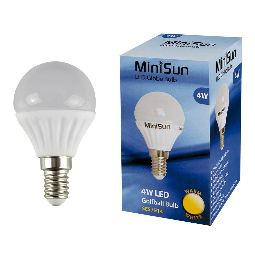 MiniSun 4W SES/E14 Globe bulb In Warm White