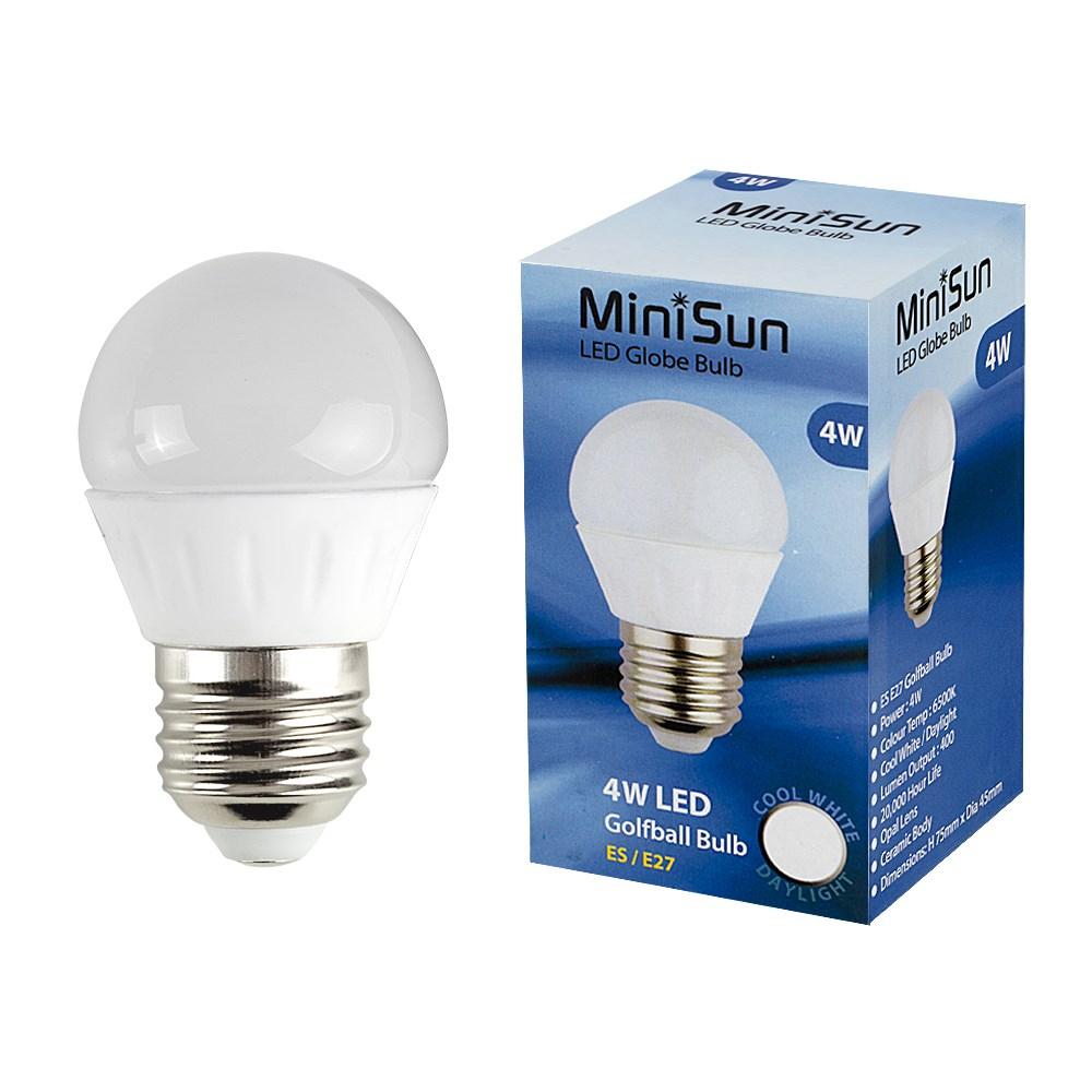 MiniSun 4W ES/E27 Globe Bulb In Cool White