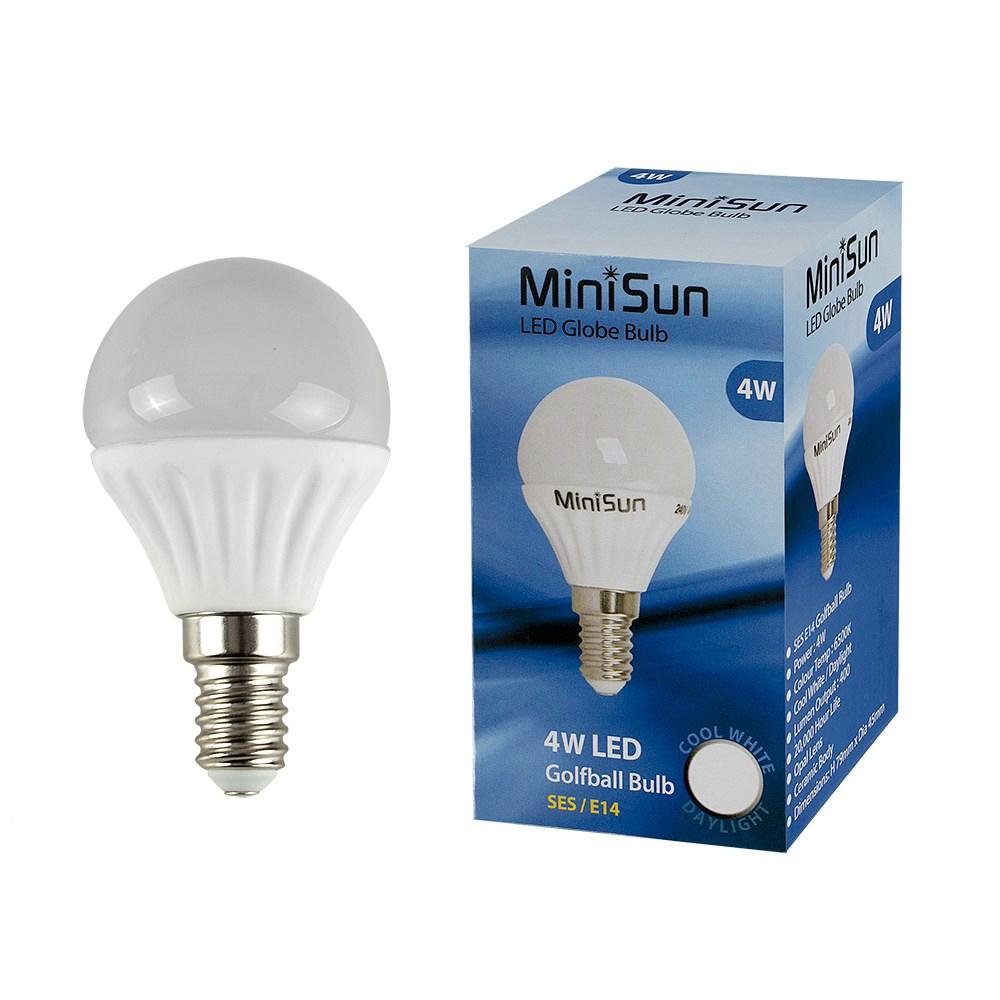MiniSun 4W SES/E14 Globe bulb In Cool White