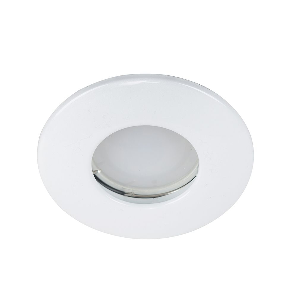 MiniSun Domed Bezel IP65 Fire Rated Bathroom Downlight in White