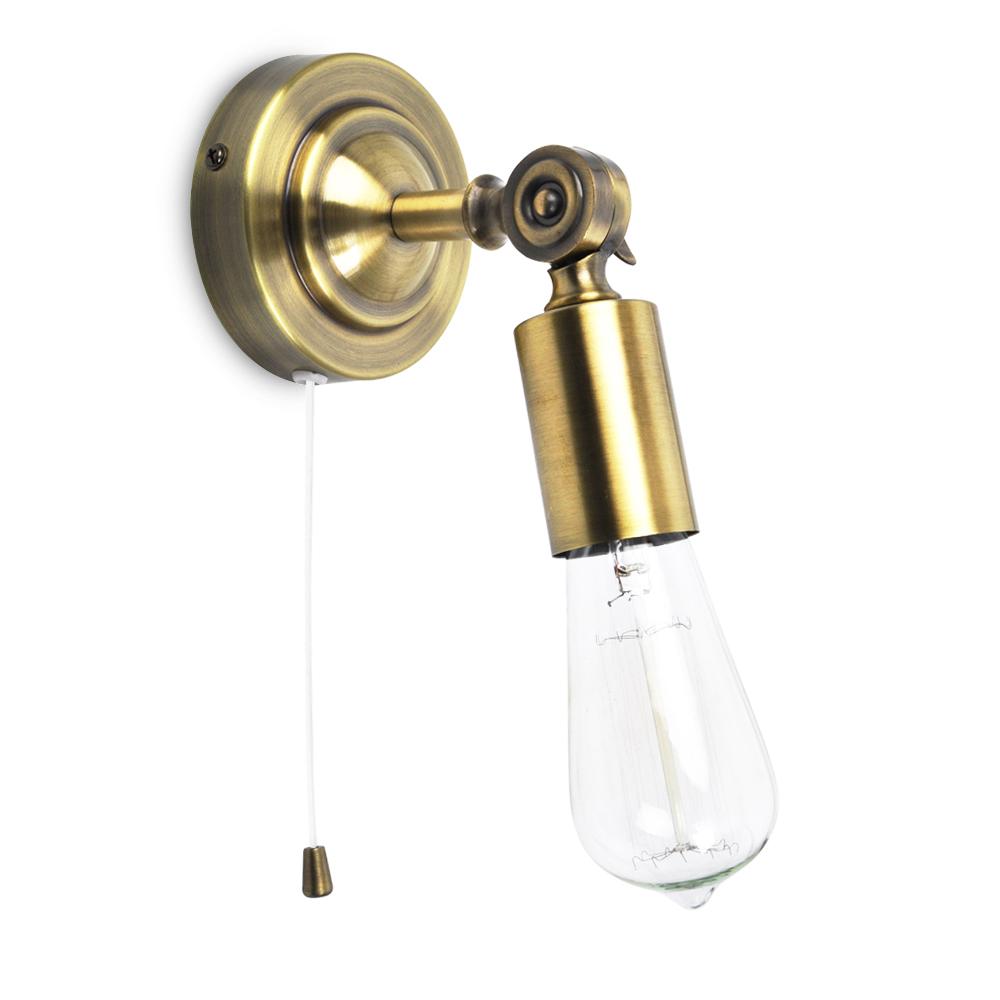 Salisbury Joint Steampunk Wall Light in Antique Brass