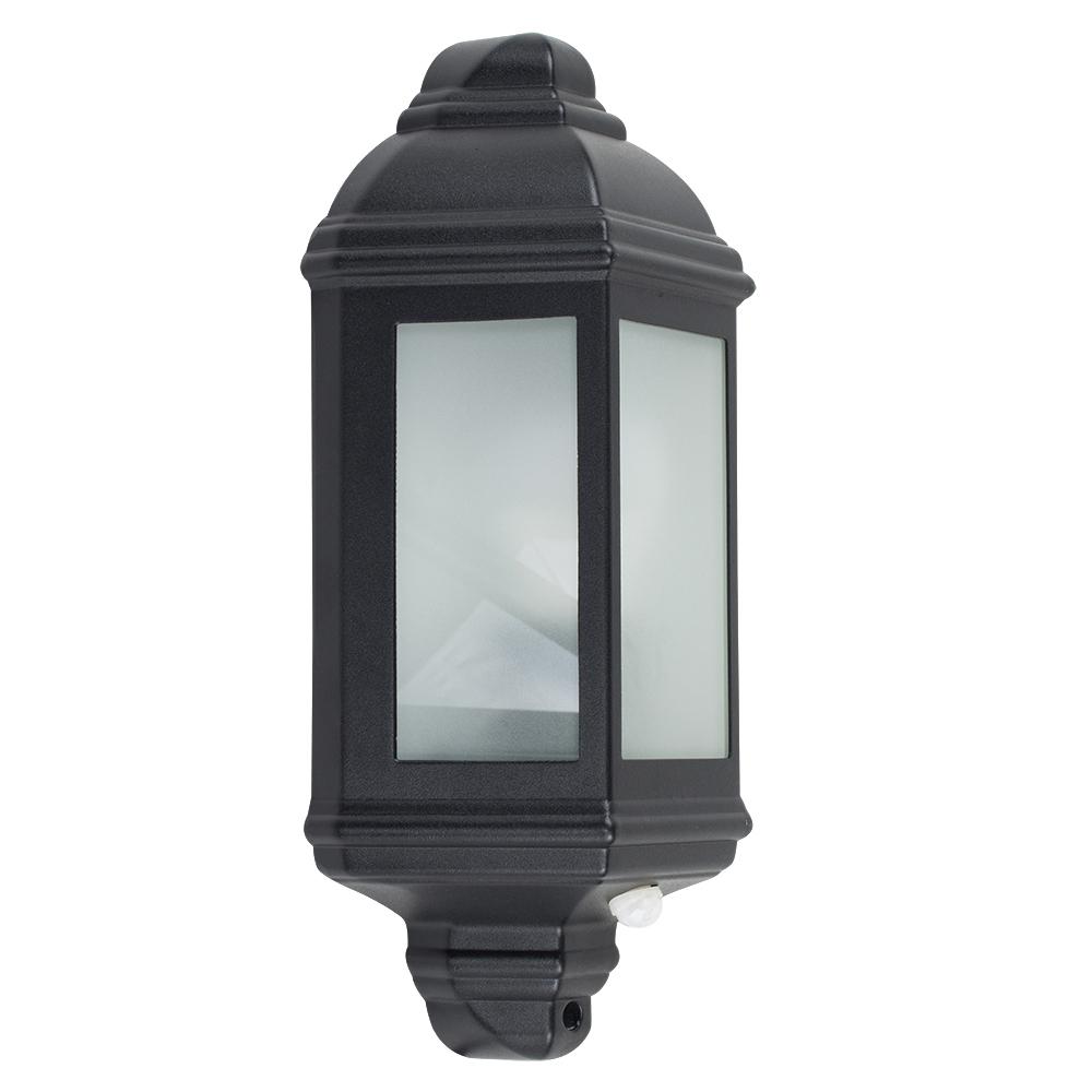 Kayleigh IP44 PIR Wall Lantern in Black