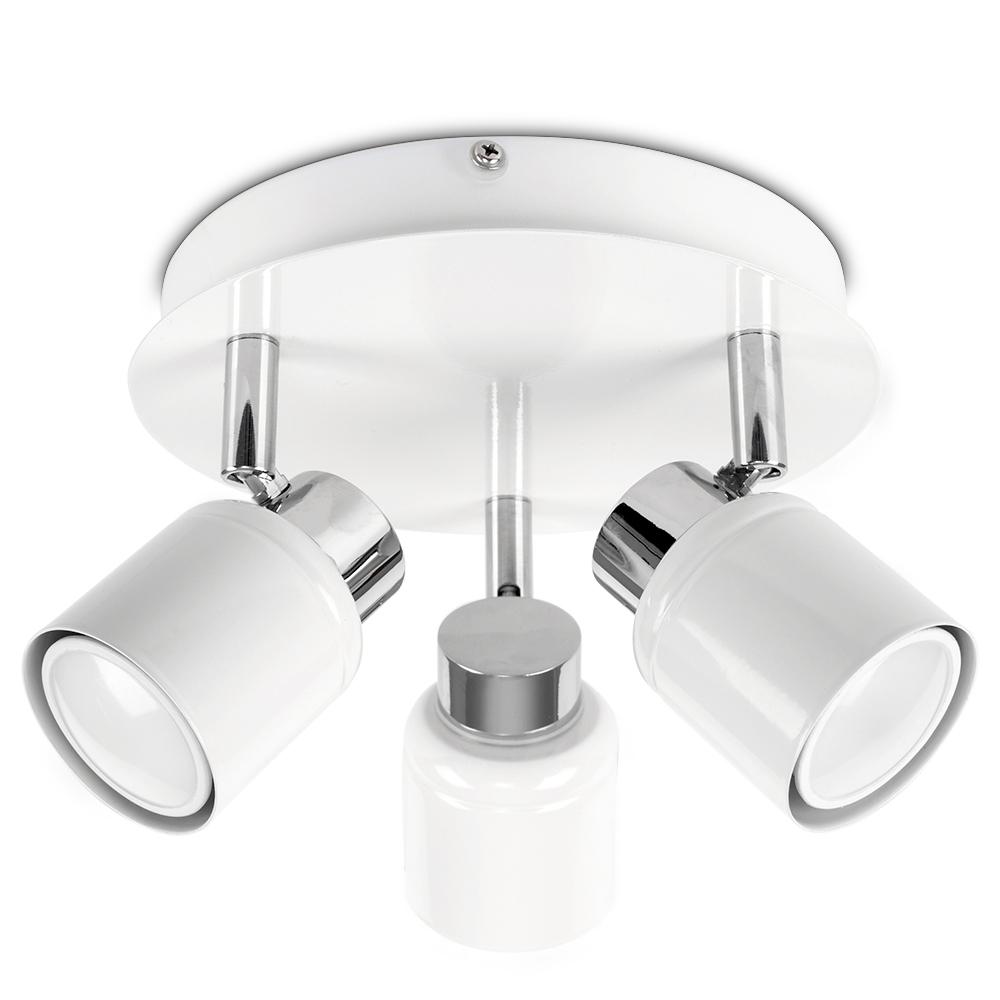 Benton IP44 3-Way Ceiling Spotlight in White