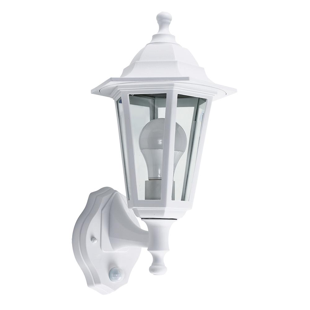 Mayfair IP44 Outdoor Lantern with Dusk 'til Dawn Sensor in White