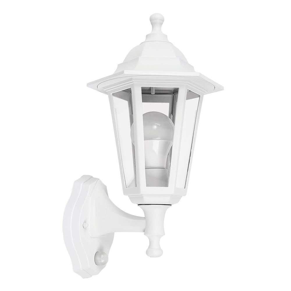 Mayfair IP44 Outdoor Lantern with PIR Sensor in White