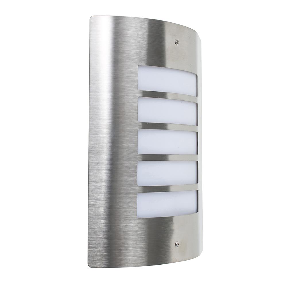 'Medlock' IP44 LED Outdoor Bulkhead Wall Light, Stainless St