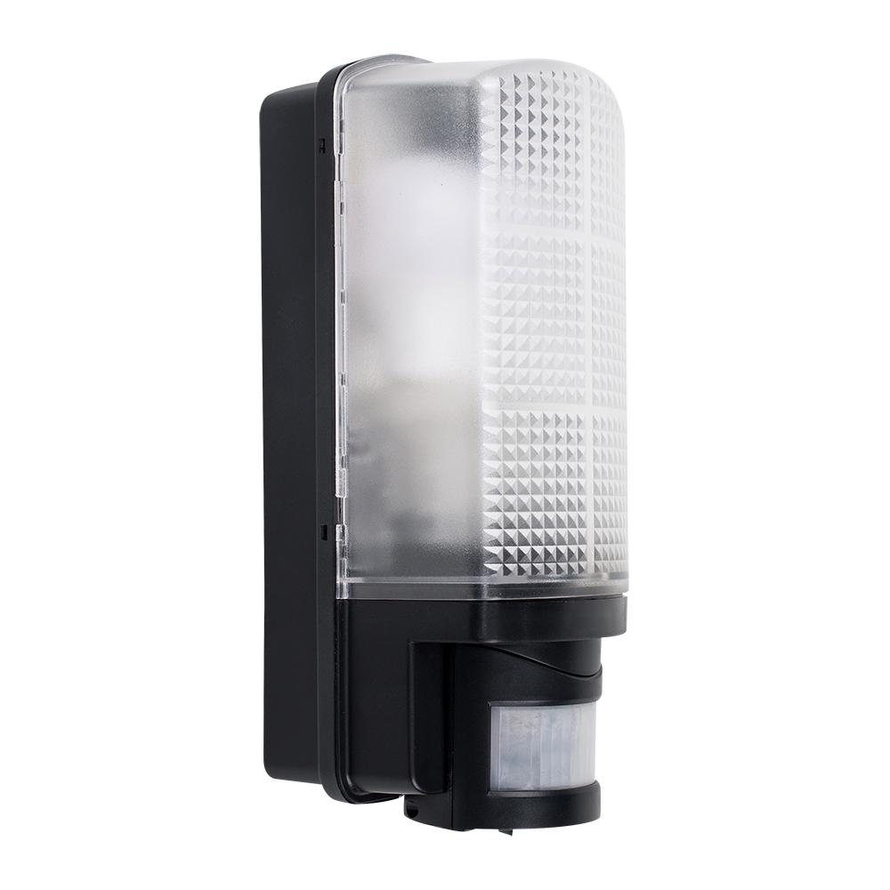 Griffin IP44 PIR Bulkhead Wall Light in Black
