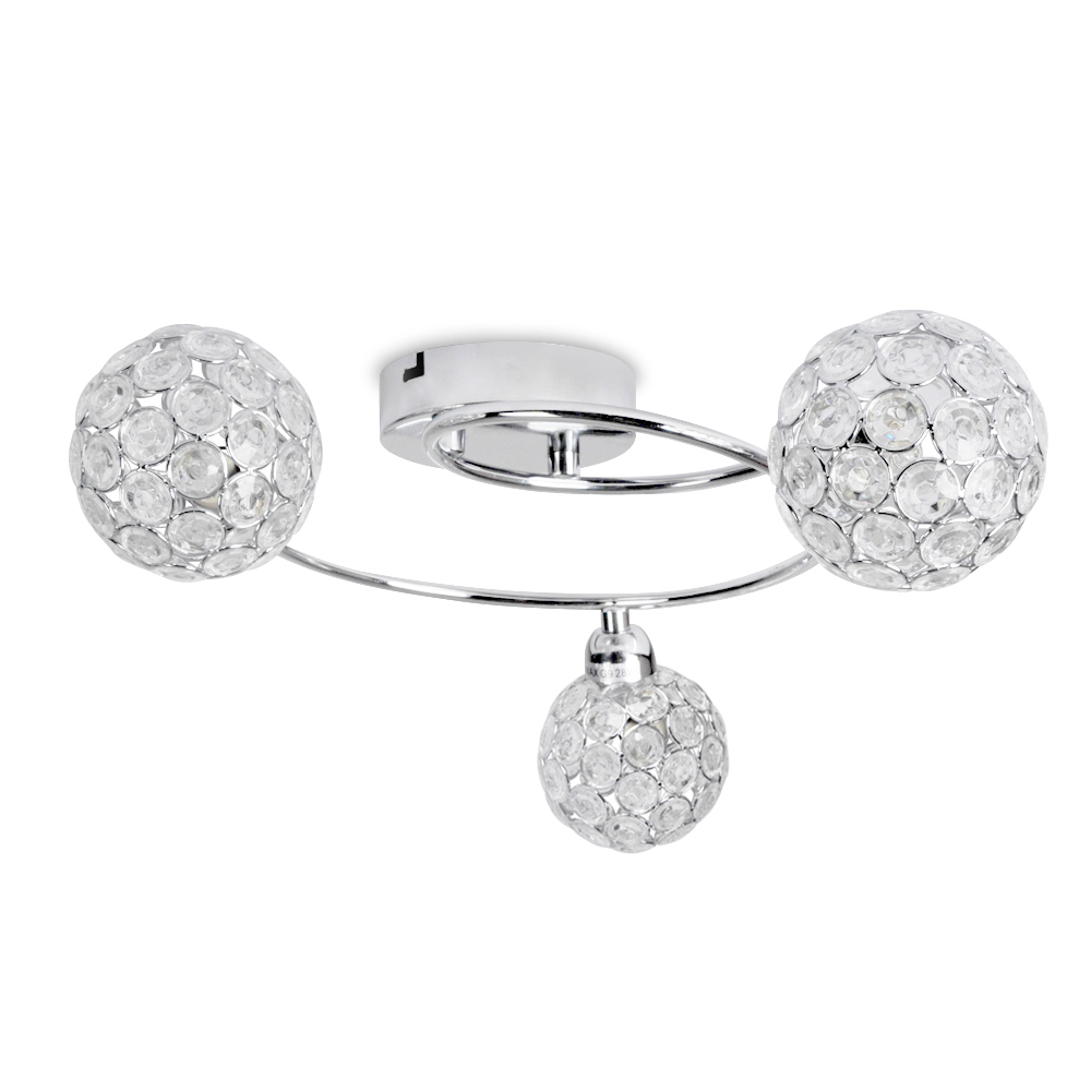 Ducy 3 Way Ceiling Light in Chrome