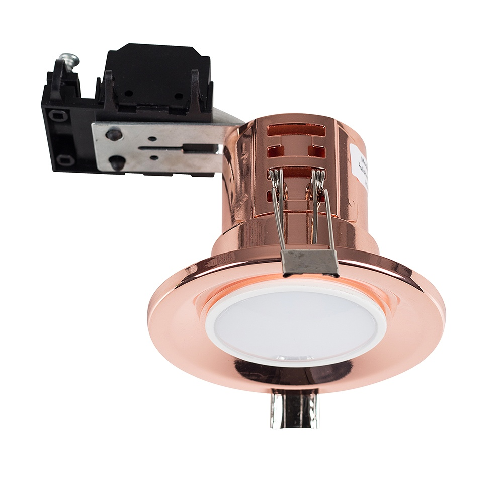 MiniSun Fire Rated Downlight In Polished Copper