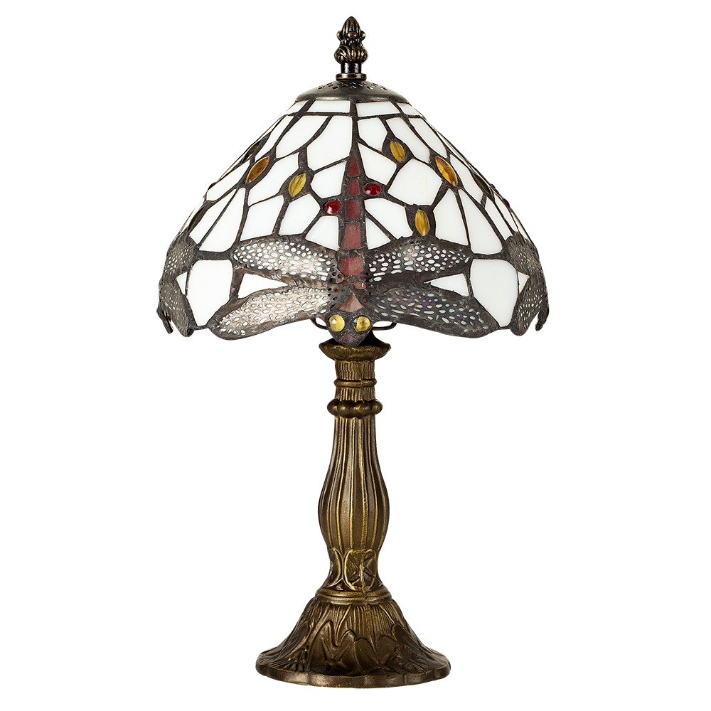 Tiffany Dragonfly Antique Brass Table Lamp