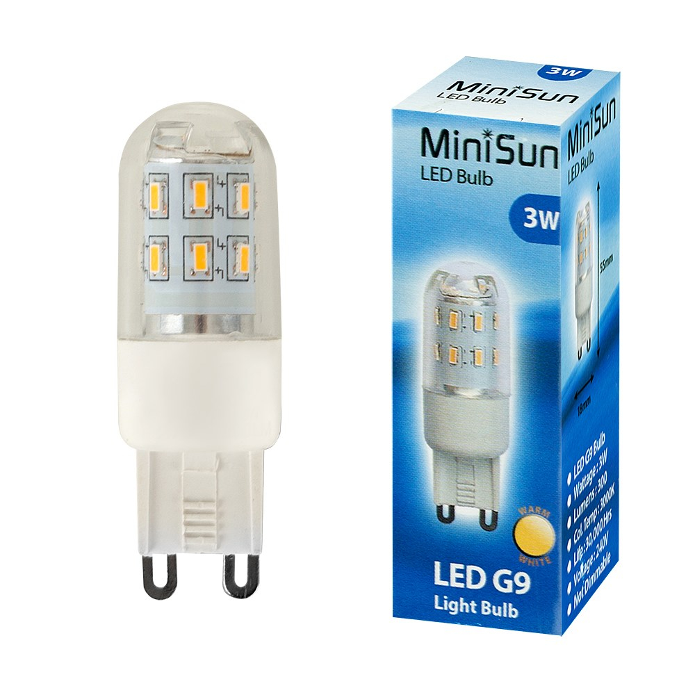 MiniSun 3W G9 Capsule Bulb In Warm White