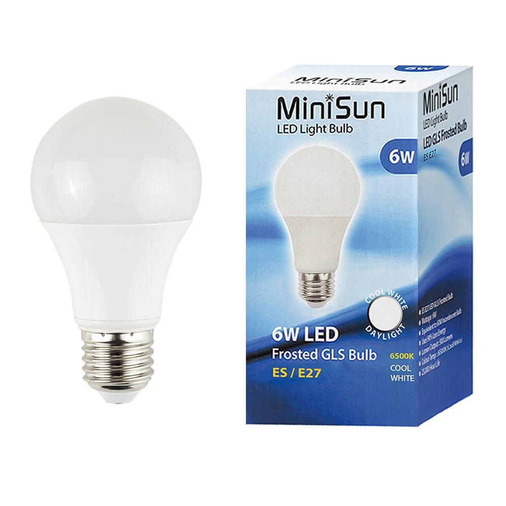 MiniSun 6W ES/E27 GLS Bulb In Cool White