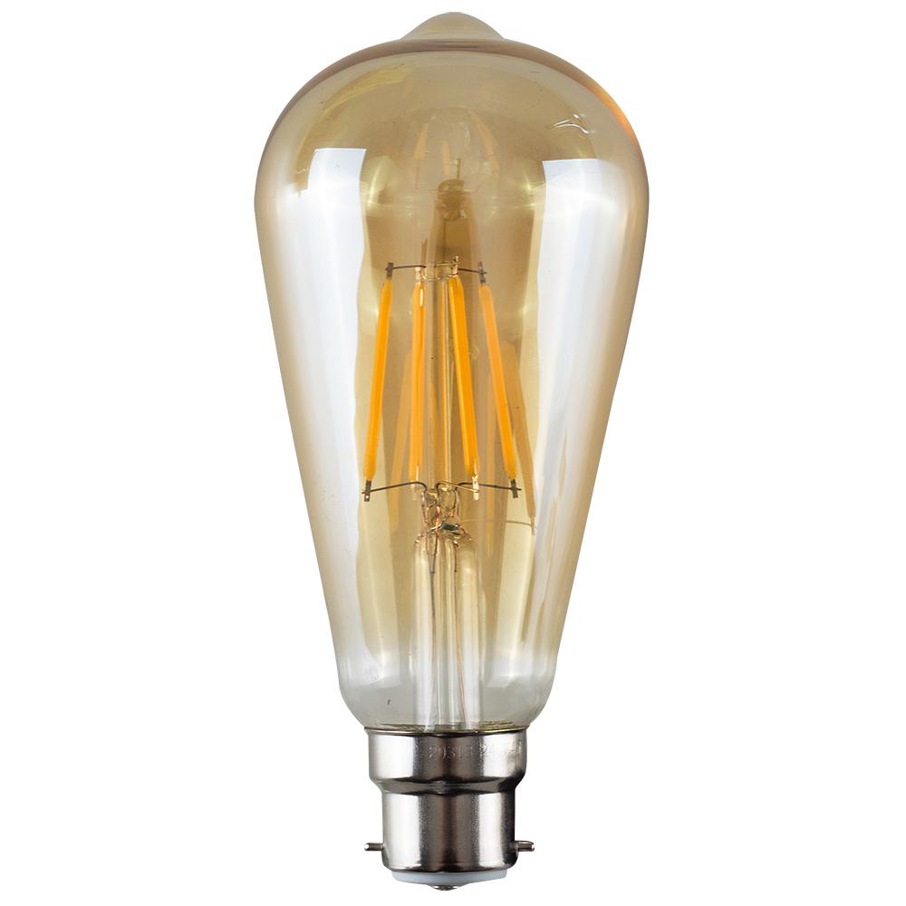 MiniSun 4W BC/B22 Filament Pear Shaped Bulb In Warm White
