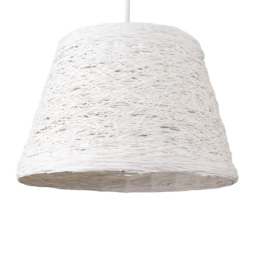 Jaap Twine Tapered Pendant Shade in White
