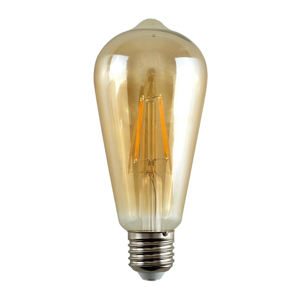 MiniSun 4W ES/E27 Filament Pear Shaped Bulb In Warm White