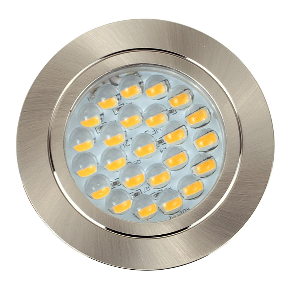 Voyager Satin  Nickel Recessed LED Downlight in Cool White