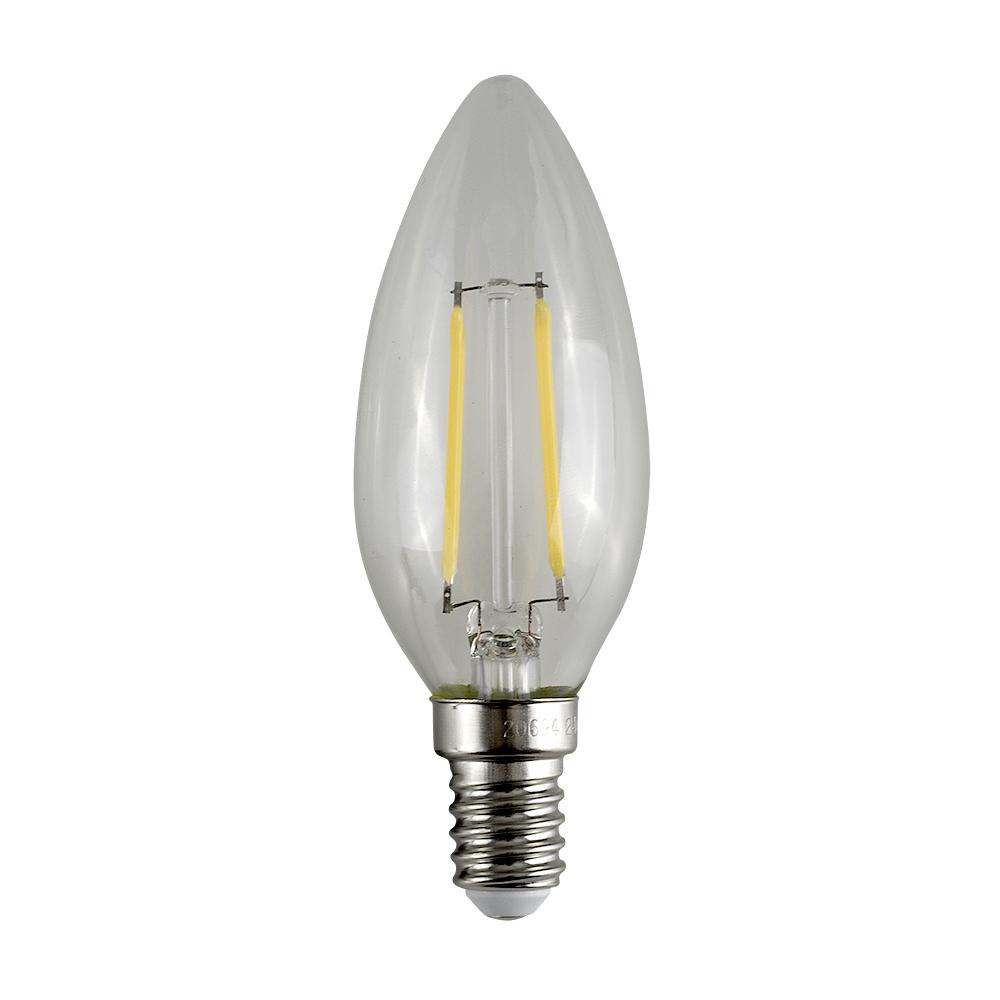MiniSun 4W SES/E14 Filament Candle Bulb In Warm White
