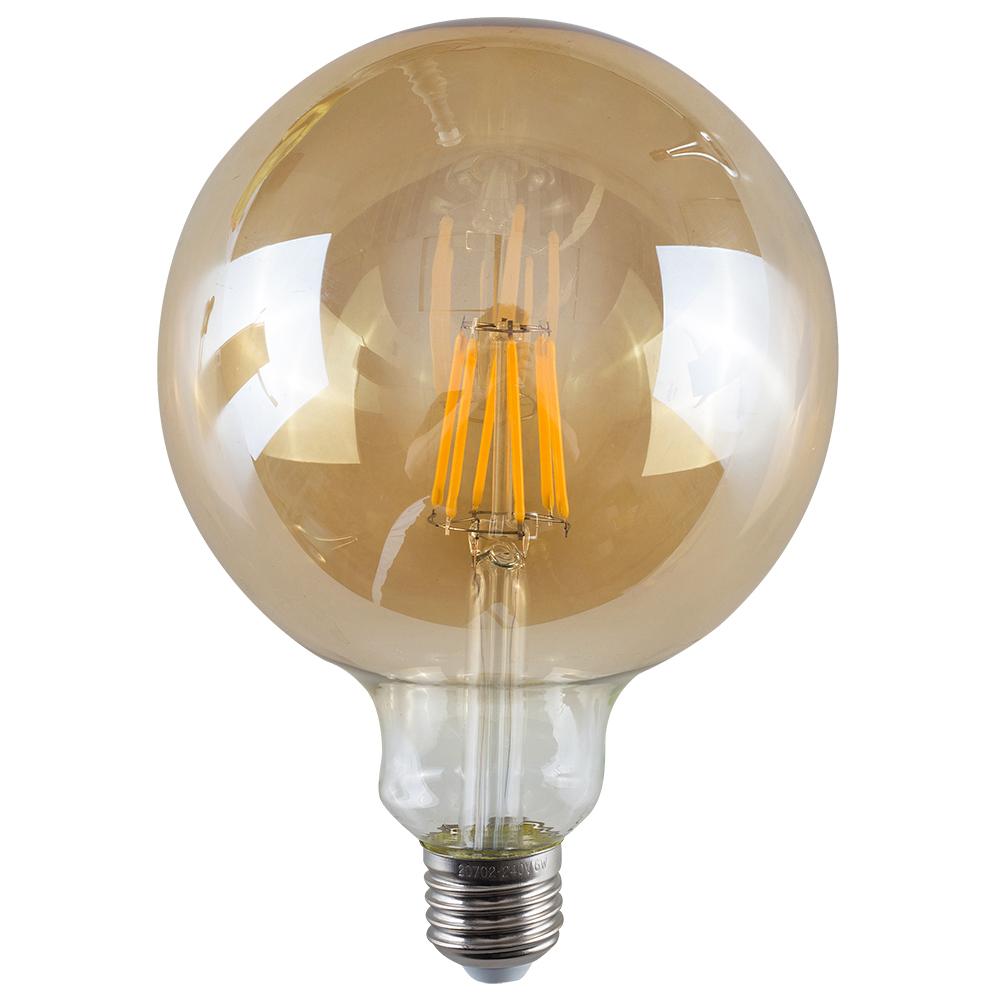 MiniSun 6W ES/E27 Filament Giant Globe Bulb In Amber
