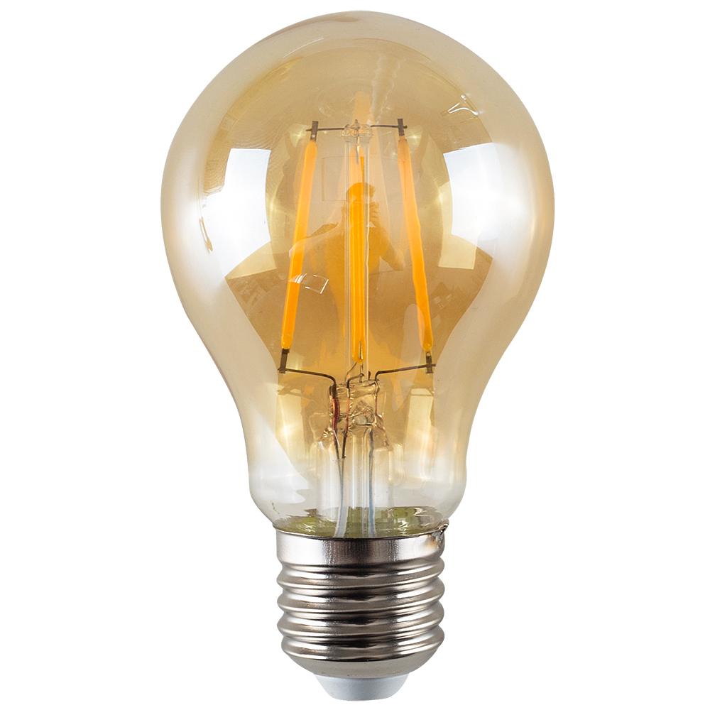 MiniSun 4W ES/E27 Filament GLS Bulb in Amber
