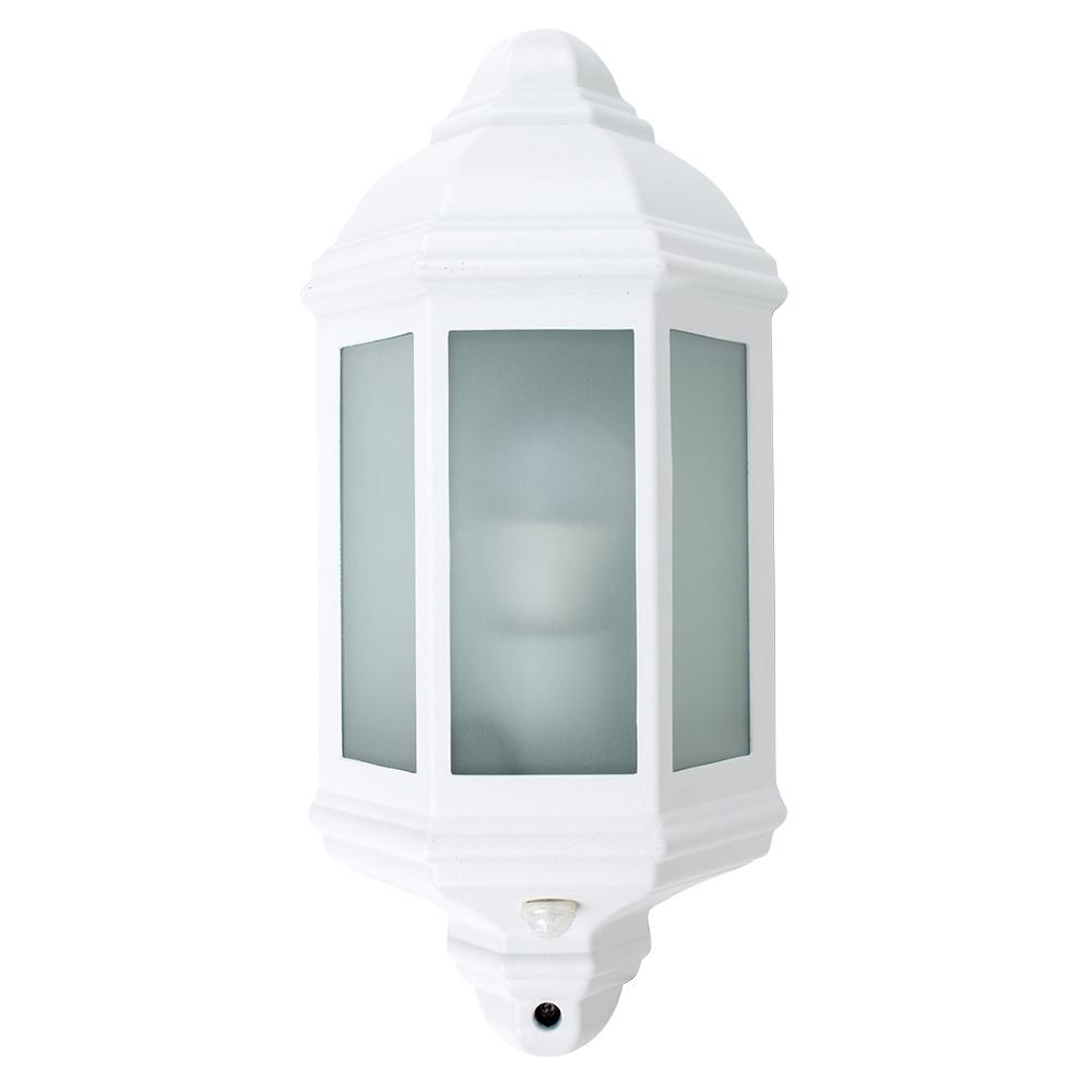 Kayleigh IP44 PIR Wall Lantern in White