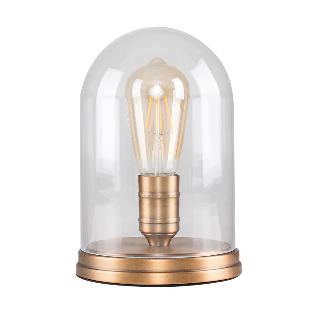 Antique Thomas Edison Aged Brass Steampunk Table Lamp