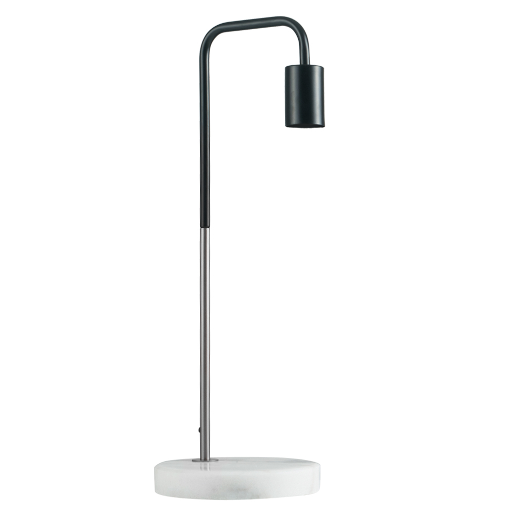 Talisman Satin Nickel and Black Table Lamp